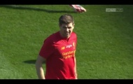 Màn trình diễn của Gerrard vs Real Madrid Legends