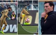 Donnarumma mắc sai lầm không tưởng, Milan hòa thất vọng trước đội cuối bảng