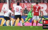 Daniel Brosinski sút penalty nâng tỷ số 2-1 cho Mainz (Bayern Munich 1-2 Mainz 05, vòng 34 Bundesliga)