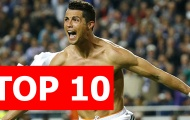 Top 10 đội bóng ghi bàn thua cả CR7 tại Champions League