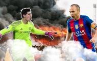 Vào ngày này |11.5| Cháy cả sân trong sinh nhật Iniesta, Courtois