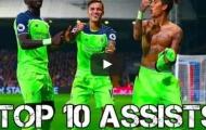 10 pha kiến tạo đẹp nhất Liverpool mùa 2016/17