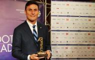 Huyền thoại Zanetti giành giải thưởng 'Thủ lĩnh bóng đá' 2017