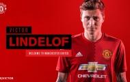 Hé lộ số áo của Victor Lindelof ở Man United