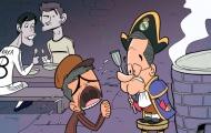 Biếm họa: Mourinho quỳ xin Perez để rời Real