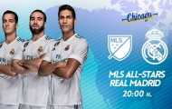 TRỰC TIẾP MLS All-Stars 1-1 Real Madrid: Tỷ số được quân bình (Kết thúc)
