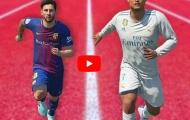 Cristiano Ronaldo đua tốc độ với Lionel Messi trong FIFA 18.