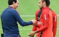 Neymar khẳng định 'không có vấn đề' với Unai Emery