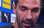 Gianluigi Buffon khóc nức nở trong ngày chia tay tuyển Ý