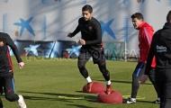NHM Barca mừng rỡ khi thấy Suarez sung sức tập luyện