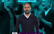 Pep Guardiola lập cú đúp giải thưởng HLV xuất sắc tháng của Premier League