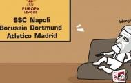 Biếm họa Wenger ngất xỉu sau vòng bảng Champions League