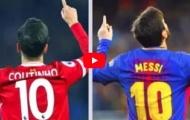 So tài sút phạt của Lionel Messi và Philippe Coutinho
