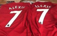 Áo số 7 của Sanchez ở Man Utd đã được bày bán