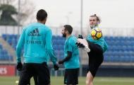 Bale hưng phấn trên sân tập Real Madrid