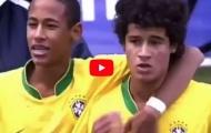 Màn trình diễn của Neymar và Philippe Coutinho lúc 15 tuổi vs Lokomotiv Moscow
