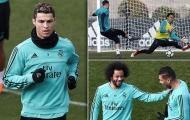 Hạ PSG, Ronaldo và đồng đội hưng phấn trên sân tập