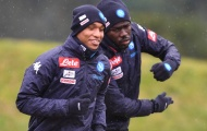 Đội mưa tập luyện, Napoli quyết tâm tạo bất ngờ tại nước Đức