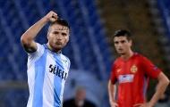 Lập hattrick, Immobile hủy diệt Steaua Bucharest tại Olimpico