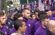 Người hâm mộ tập trung tại Franchi cầu nguyện cho Astori