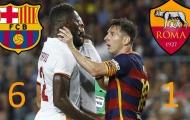AS Roma bầm dập với Barcelona ở lần đối đầu gần nhất