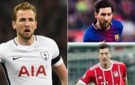 Top 10 sao sân cỏ có giá trị chuyển nhượng đạt đỉnh: Kane vượt Messi