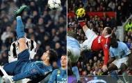 Ronaldo tái hiện siêu phẩm 'xe đạp chổng ngược' của Wayne Rooney