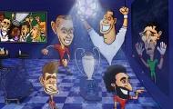 Hí họa thủ môn Buffon rơi lệ vì Champions League