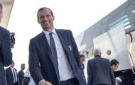 Allegri tươi rói khi dẫn đoàn Juventus tiến đánh Thủ Đô