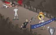 BIẾM HỌA: Ronaldo ngơ ngác nhìn Bale gánh Real Madrid