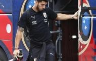 Suarez cùng tuyển Uruguay buồn bã về nước