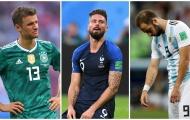Những tiền đạo có phong độ thảm hoạ tại World Cup 2018