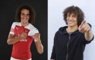 Tân binh Arsenal trông giống David Luiz y đúc trên sân tập