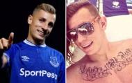 Tân binh Everton bị chỉ trích vì có hình xăm giống... khẩu hiệu của Liverpool
