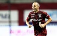 Iniesta 'mở tài khoản' trên đất Nhật khi tái hiện siêu phẩm của Bergkamp