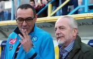 Chưa hết 'cay cú', chủ tịch Napoli tiếp tục công kích Maurizio Sarri