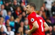 'Chết cười' với thông điệp chúc mừng Milner gửi đồng đội Liverpool