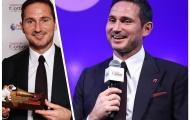 Lampard rạng rỡ nhận giải thưởng Huyền thoại bóng đá