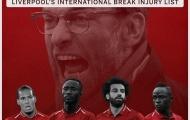 3 lý do Liverpool không phải ngán khủng hoảng chấn thương