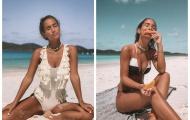 Dạo biển mùa thu, tình cũ của Morata khoe loạt bikini quyến rũ