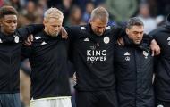 Các cầu thủ Leicester City không ngừng rơi nước mắt trước trận đấu
