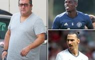 'Siêu cò' Raiola chuẩn bị gặp Juve, vì Ibra, Pogba hay ai khác?