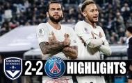Highlights: Bordeaux 2-2 PSG (Vòng 15 Ligue 1)
