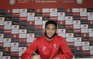 Joe Gomez gia hạn hợp đồng với Liverpool