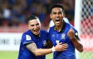 Teerasil Dangda mang băng đội trưởng tuyển Thái Lan dự Asian Cup