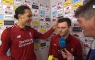 Robertson khiến Van Dijk bật cười khi được nhờ làm điều này với Firmino