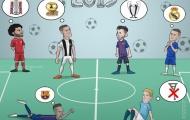 Biếm họa: Điều ước của Ronaldo, Messi; Solskjaer và Mourinho khác gì?