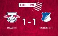 TRỰC TIẾP RB Leipzig 1-1 Hoffenheim: 90 phút kịch tính (KT)