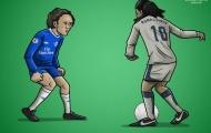 Biếm hoạ: Coutinho ngày xưa và bây giờ; Pogba mơ giấc mơ 'Galacticos'