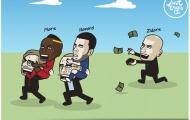 Biếm họa: Messi buồn 'nỗi buồn Ronaldo'; Tiền nhiều để làm gì?
